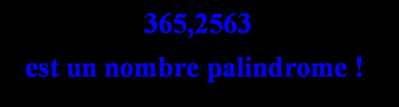 Palindrome et année sidérale