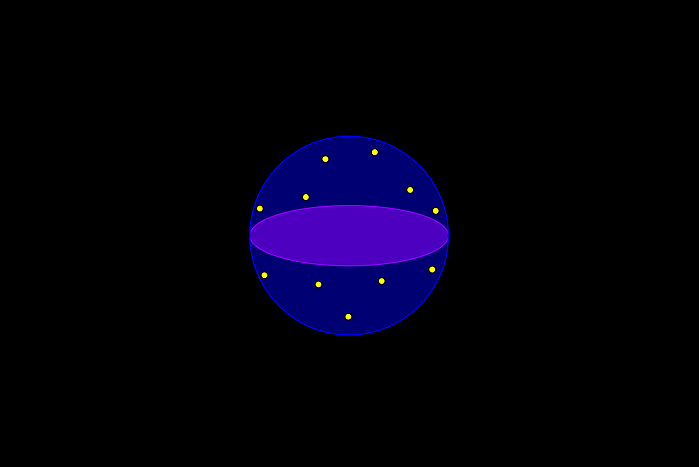 des points lumineux à la surface de la Terre
