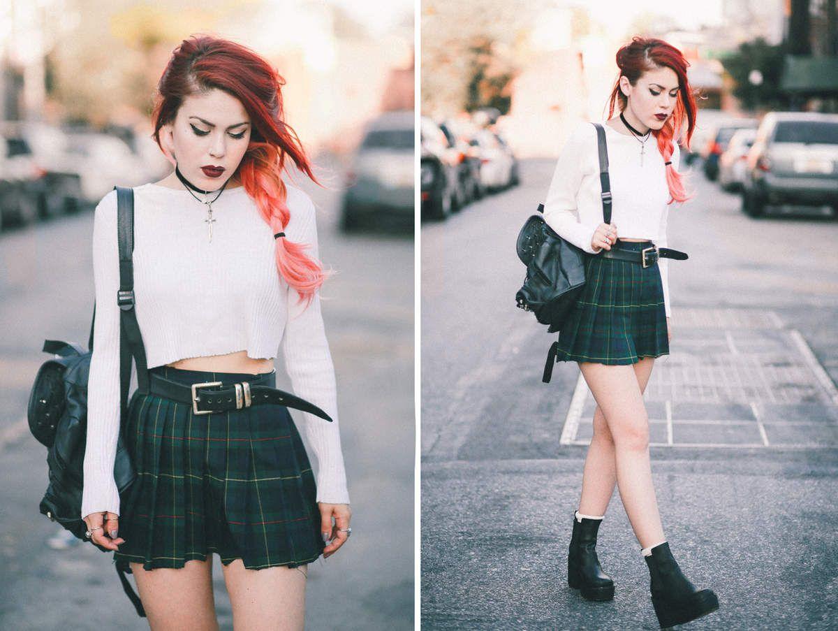 Back to school : La jupe à carreaux