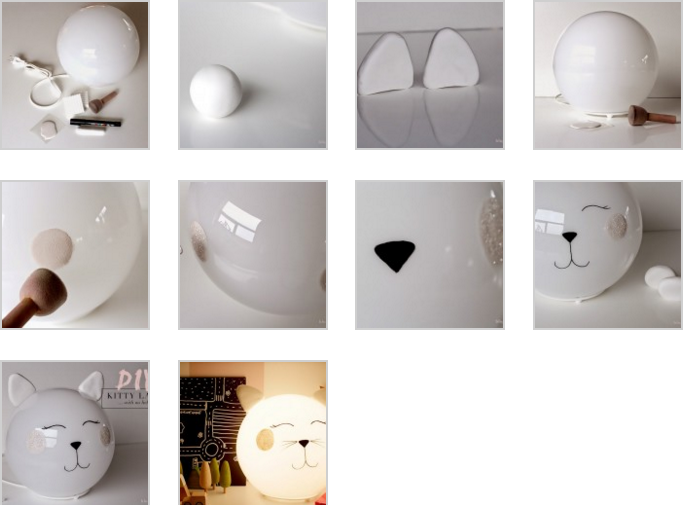 DIY:Lampe chat avec FADO