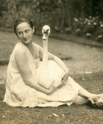 la danseuse Anna Pavlova et le cygne...
