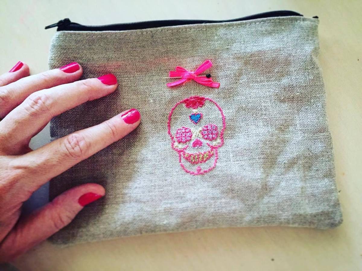 Pochette de sac brodée DIY