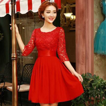 Robe rouge chic et glamour