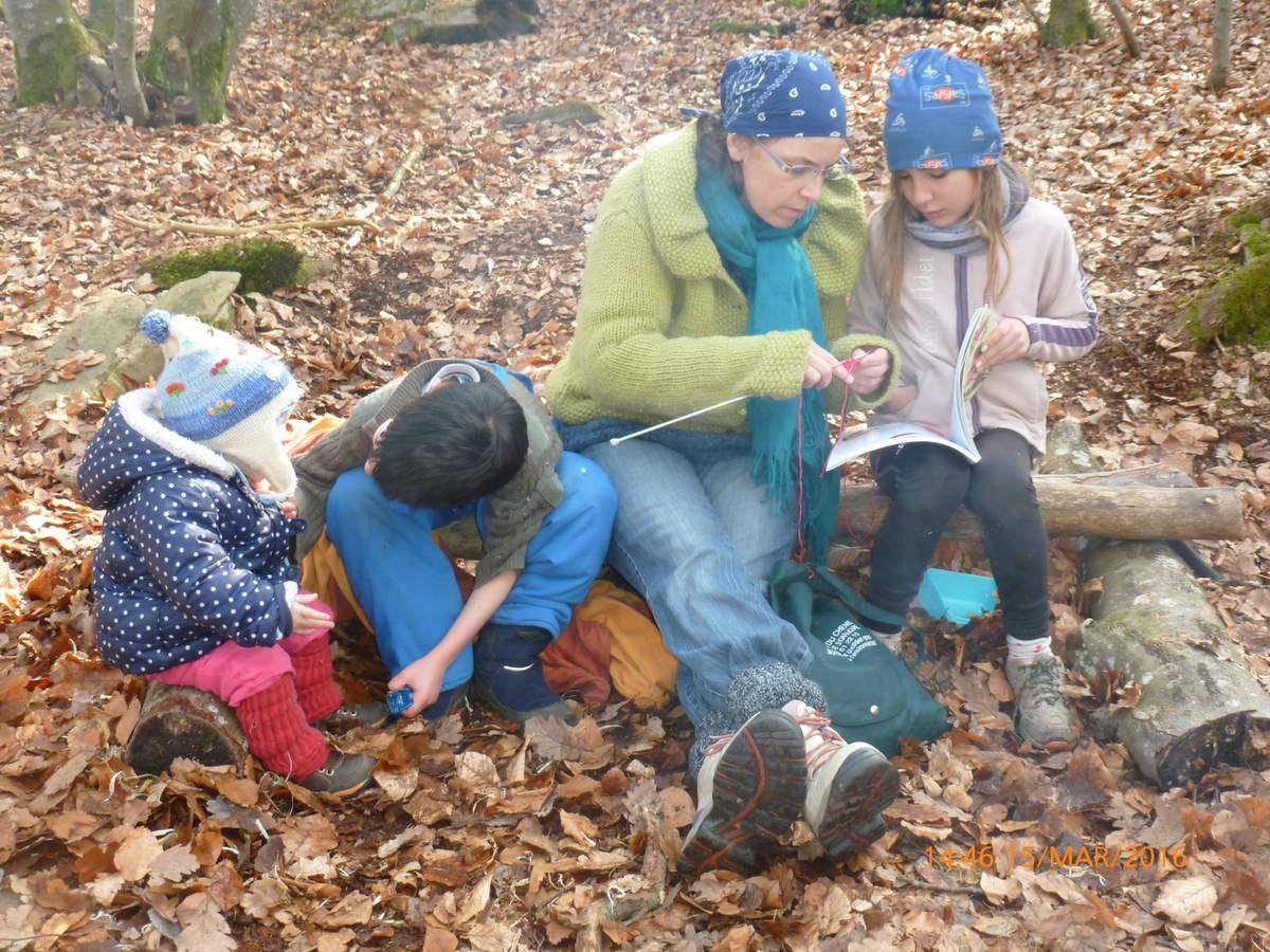 Atelier crochet même en forêt!