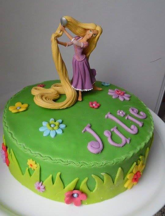 Gateau raiponce astuces en sucre - Decoration gateau anniversaire fille princesse ...
