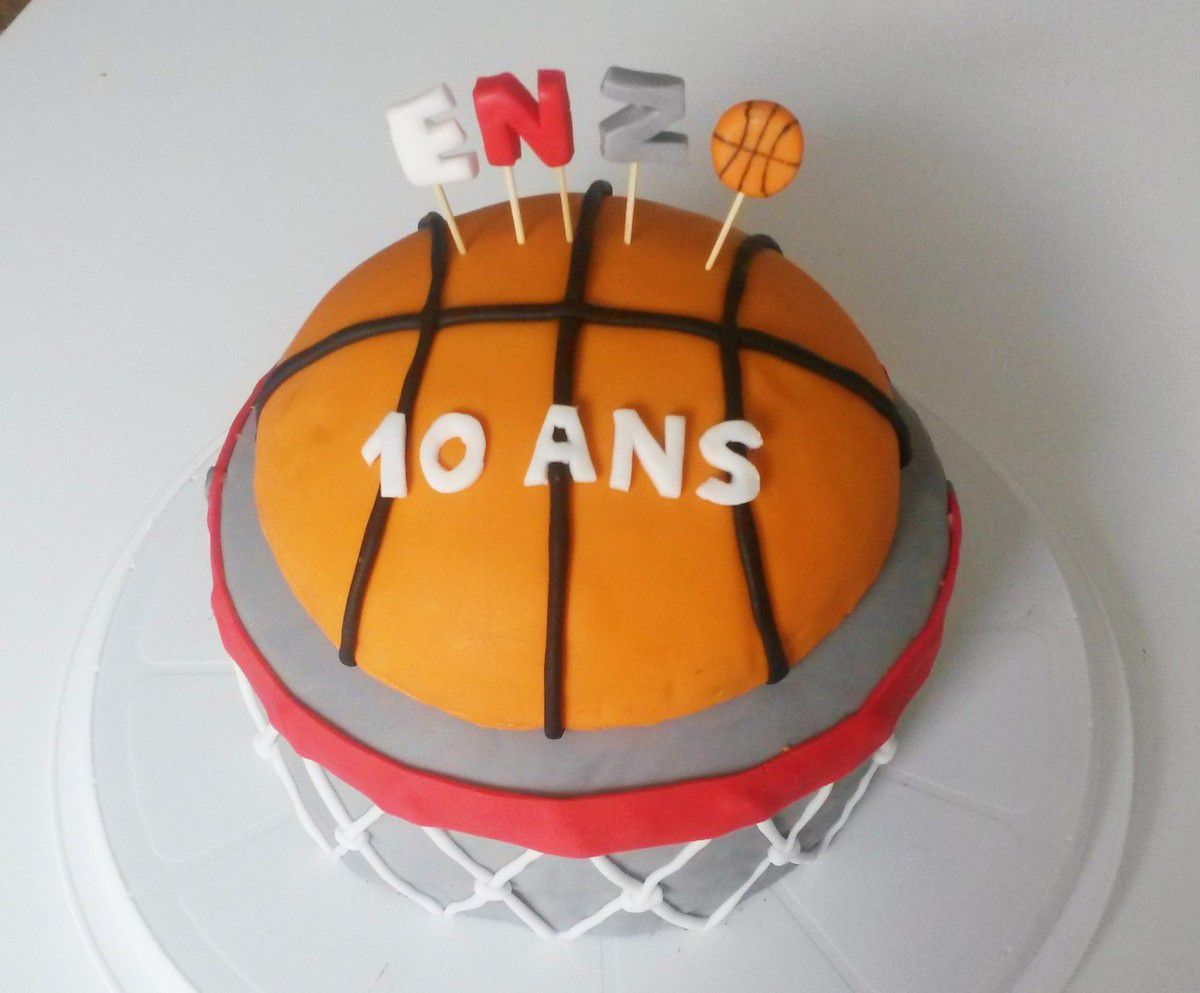 decoration gateau basketball