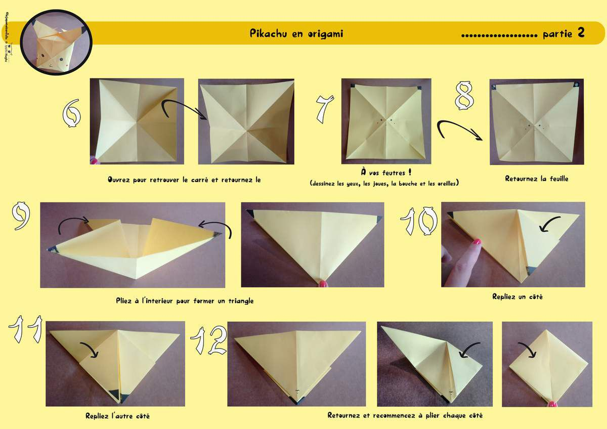 How To Make Origami Pikachu Box