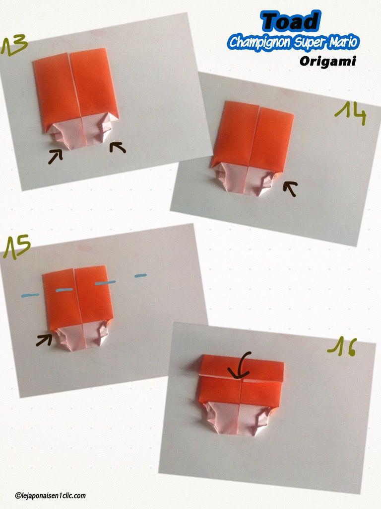 Toad (le champignon de Super Mario) version origami