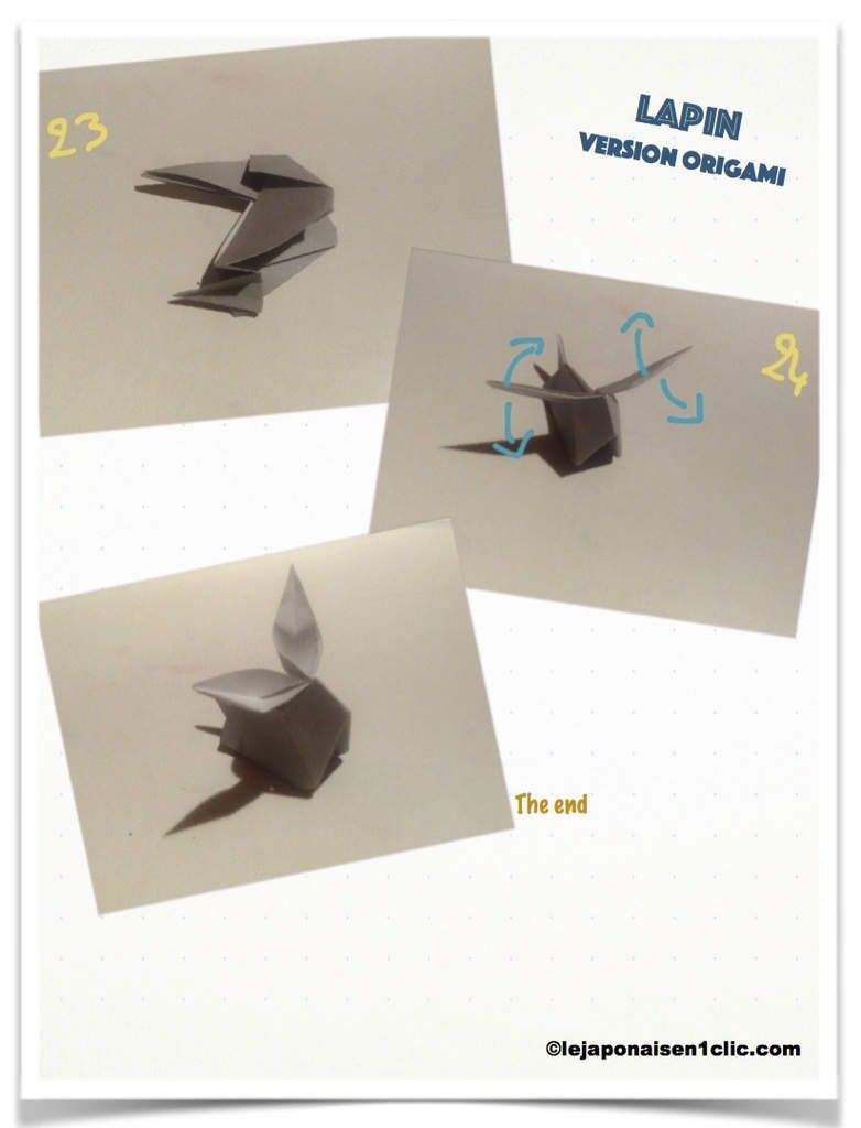 Origami : le lapin うさぎ