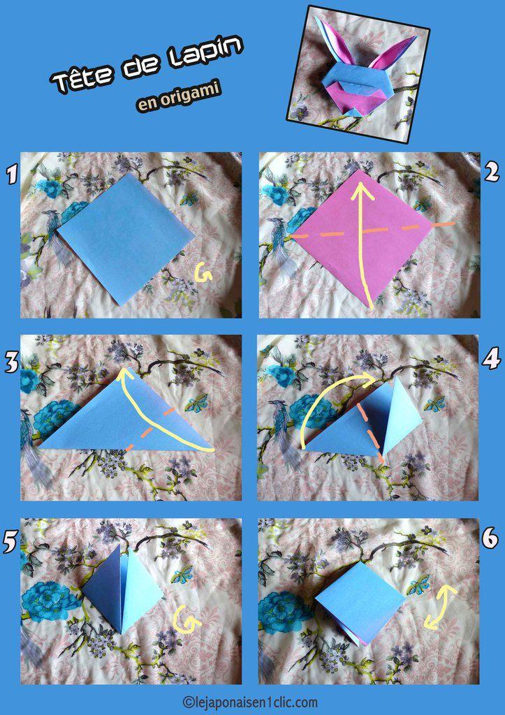 #tetedelapin #origami #tuto #leblogdeippikicat