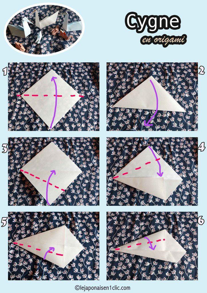 #tuto #origami #cygne #leblogdeippikicat