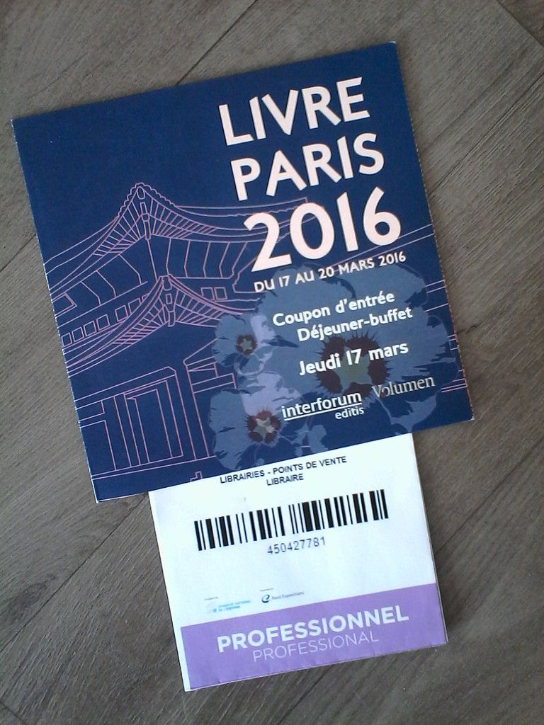 Le salon du livre de Paris 2016