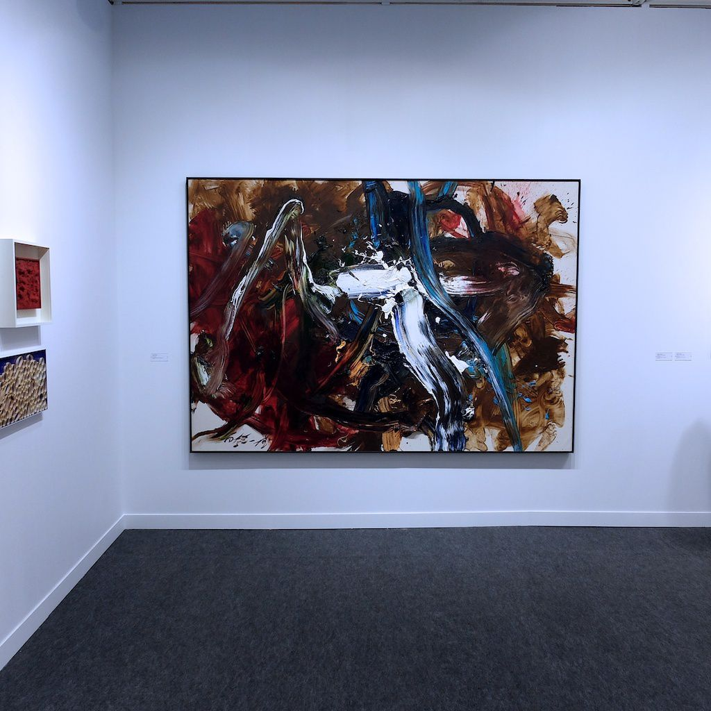 ©Kazuo Shiraga.vernissage Fiac 2015. Paris.