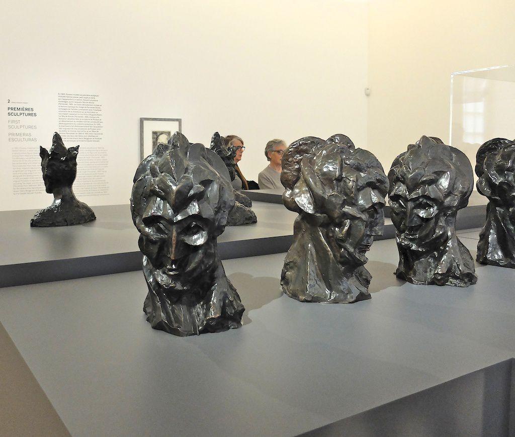 courtesy musée Picasso-sculptures-têtes de femmes.