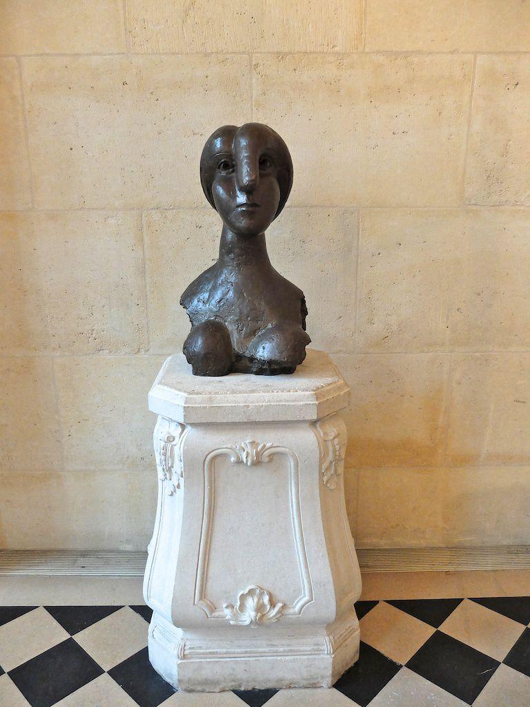 courtesy musée Picasso-sculptures-buste de femme.
