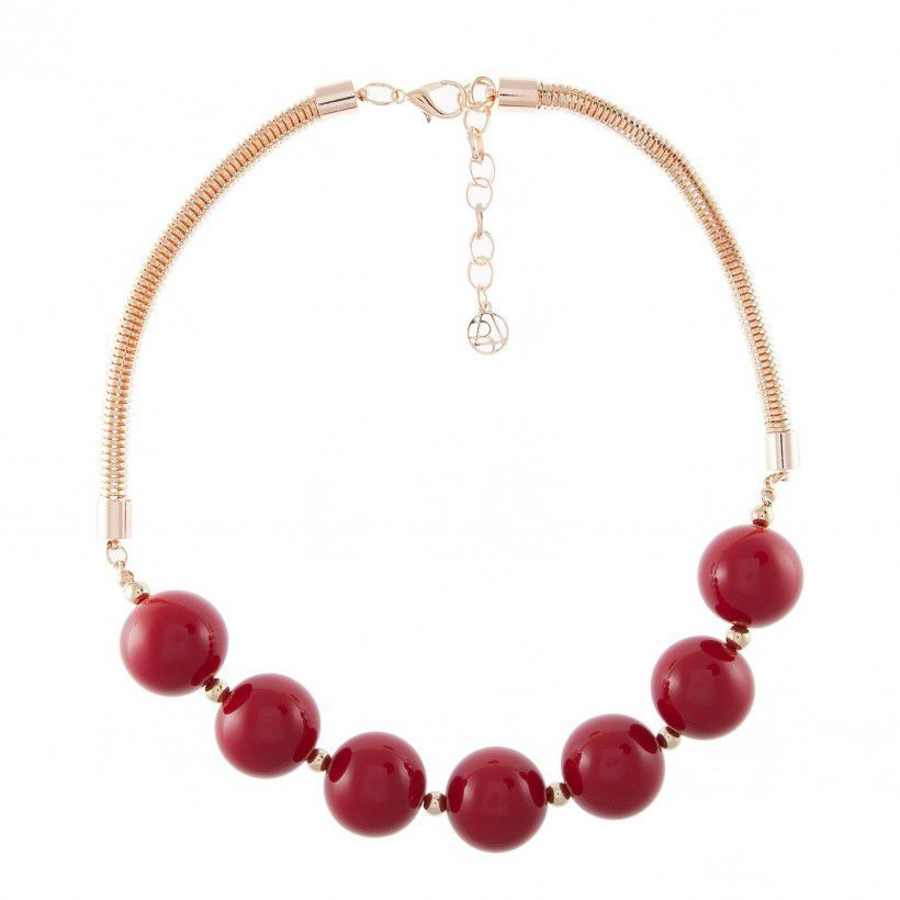 collier boules rouges bala booste