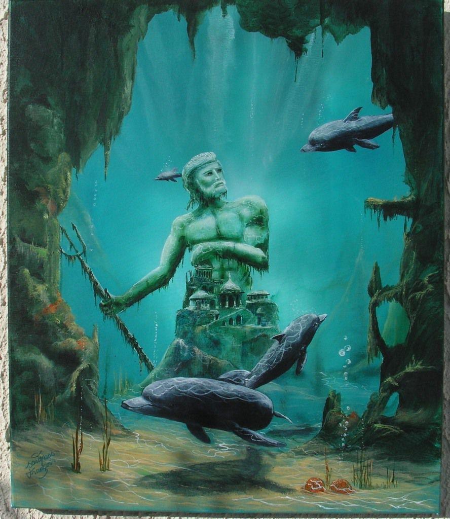 atlante  <réalisé a l'acrylique sur toile 12f >