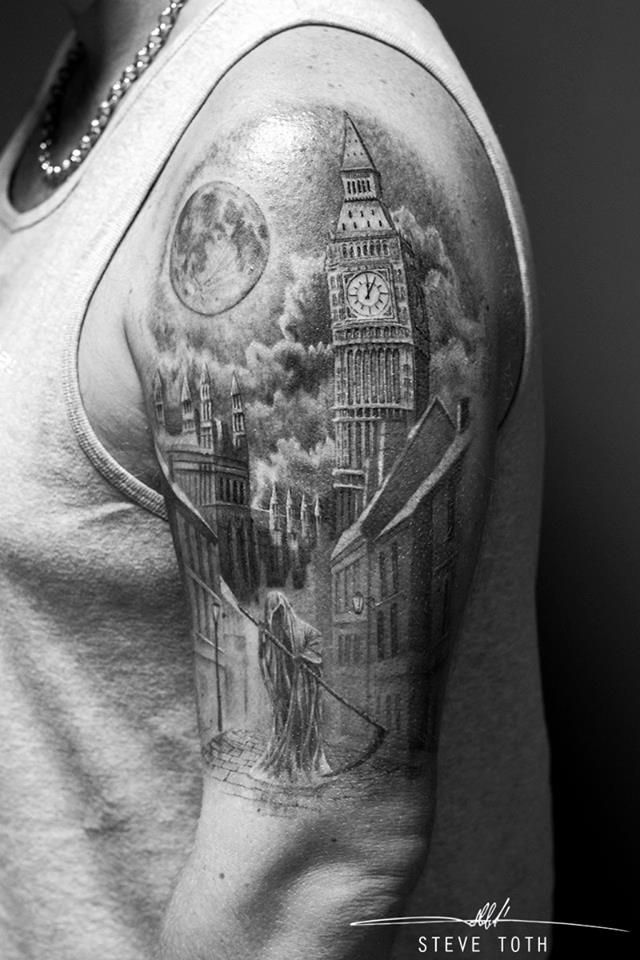 Tattoo in nyc paris and london planeteink for Cleveland skyline tattoo
