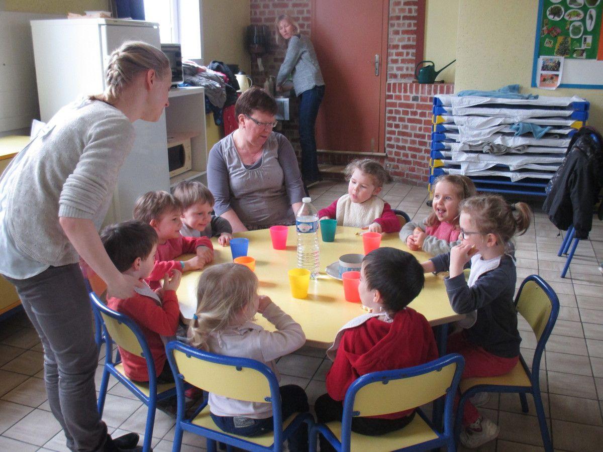 Repas partage à l'école Sainte Gertrude !!