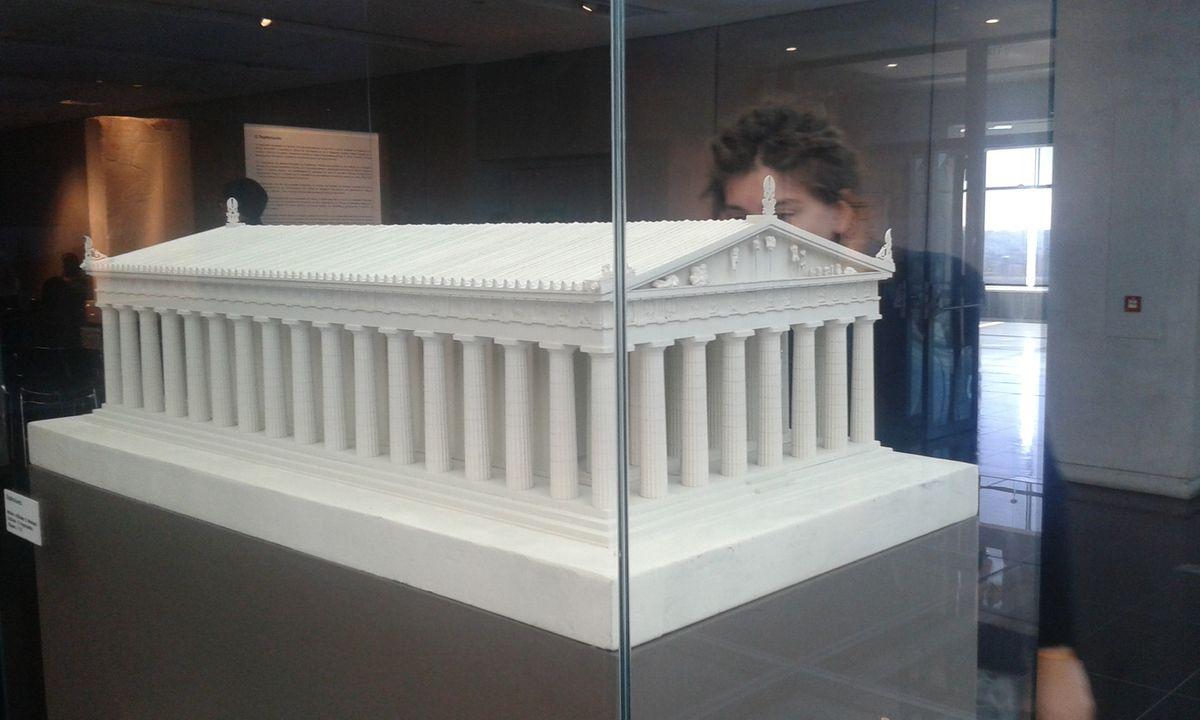maquette de reconstitution de l'acropole