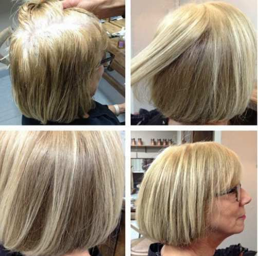 Faire une coloration blonde sur cheveux chatain