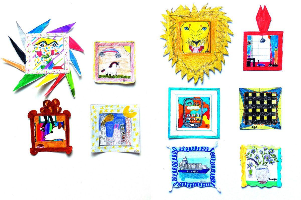 """""""Le plus petit tableau du monde"""" par Margot, Carmen, Hortense et Romane (5e 1), Emma, Corentin, Martin, Julien, Marie et Camille (5e 4)"""