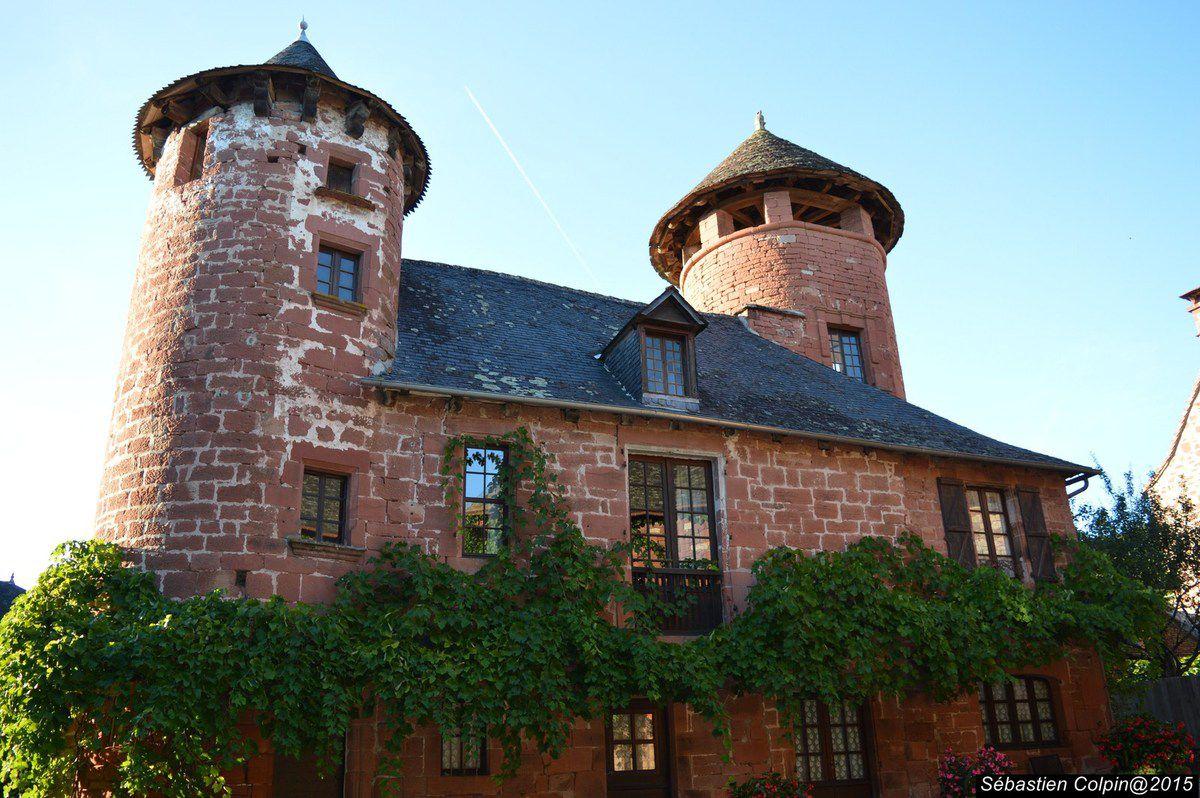 Les moines de l'abbaye de Charroux en Poitou fondent un prieuré au VIIIe siècle suite à une donation du comte Roger de Limoges. Le prieuré est intégré dans la Vicomté de Turenne en 844 et attire, sous sa protection, une population de paysans, d'artisans et de commerçants. Autour de ses bâtiments protégés par une enceinte, la communauté prospère. L'accueil des pèlerins en route pour Compostelle via Rocamadour est une source durable de profits. En 1308, le vicomte de Turenne accorde à la ville une charte de franchise. Le droit de juridiction haute, moyenne et basse lui est accordé. Il préside à la naissance de lignées de procureurs, avocats, notaires. L'enclos ne suffit plus à contenir sa population. Naissent alors les barris : le faubourg de la Veyrie à l'est, celui de Hautefort, du Faure, la Guitardie.  Collonges traverse les guerres de religion, de manière relativement pacifique, puisque les deux nefs de l'église sont utilisées alternativement pour le culte catholique et le culte protestant. Après les guerres de religion, la reconstruction du patrimoine de la petite noblesse coïncide avec la montée en puissance de la vicomté. C'est à cette époque que s'élèvent les nobles logis des officiers de la vicomté. Après la vente de la vicomté à la Couronne de France en 1738 — qui entraîne la fin de ses privilèges fiscaux — puis la Révolution, qui détruit les bâtiments du prieuré, le bourg ne retrouve qu'une prospérité éphémère au début du xixe siècle. Collonges perd peu à peu ses habitants, le village se transformant en carrière de pierres.  Au début du xxe siècle, quelques Collongeois crèent l'association des Amis de Collonges permettant le classement du site tout entier en 1942.  En 1969, Collonges devient Collonges-la-Rouge. En 2014 le centre du Village commence une rénovation en trois tranches. La première, devant la Mairie n'est pas entièrement terminée (pavage, éclairage, eaux pluviales).