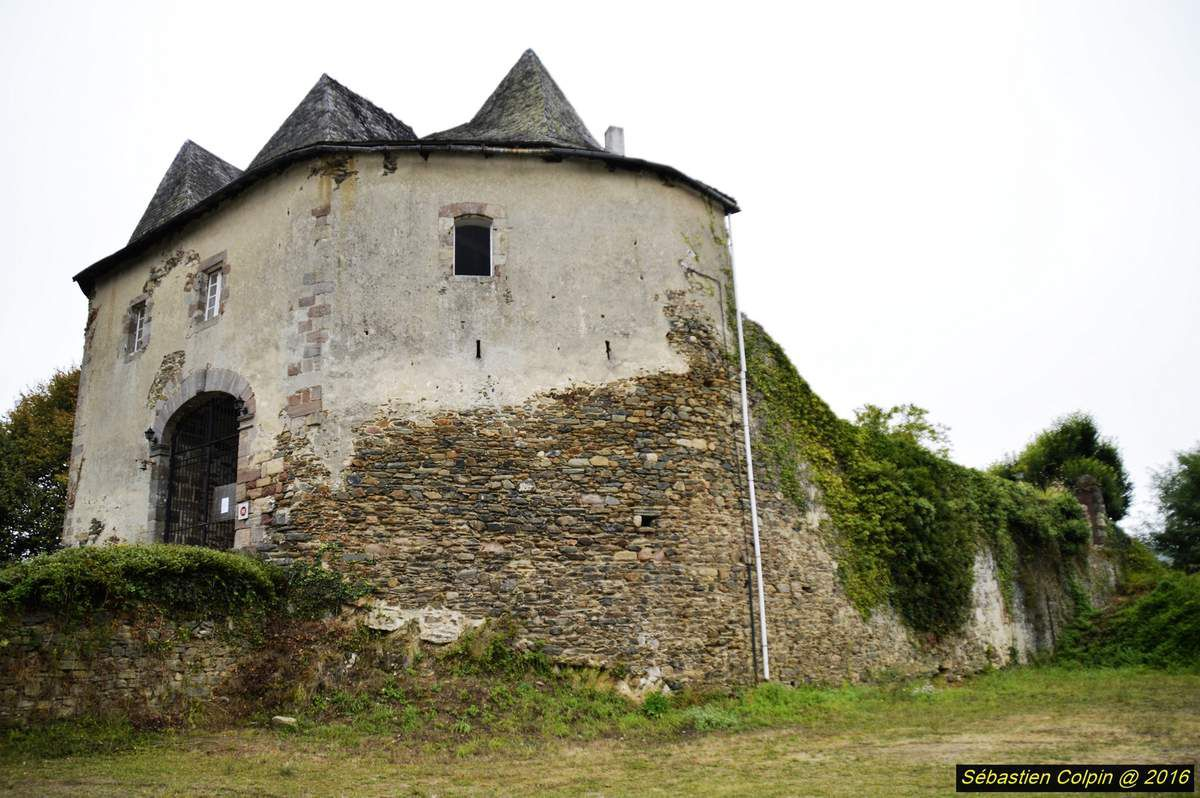 """Les ruines, les façades et les toitures du château furent inscrites à l'Inventaire Supplémentaire des Monuments Historiques en 1983, à la demande de la famille SYREY DU BUC DE FERRET, prédécesseurs de monsieur Jean-Pierre BERNARD, qui en est devenu propriétaire en 2000. Le site est un des plus anciens du Limousin. A l'origine, c'est un oppidum gaulois. La présence gallo-romaine est attestée, des fouilles ayant permis, aux environs de 2002, de retrouver des tuiles romaines &#x3B; Comborn vient d'ailleurs du gaulois """"Comboro"""" qui signifie barrière. La présence sur le site n'a ensuite jamais disparu. On a la certitude d'une présence à la fin du 8ème siècle puisque, lors des fouilles, un silo à grains contenant des graines de céréales fut mis à jour &#x3B; ces graines ont fait l'objet d'une datation au carbone 14 que l'on a située aux alentours des années 780.  C'est à partir de 900 que l'on commence à savoir qui habitait sur le site puisque certains textes attestent la présence d'une famille de COMBORN. A partir du 10ème siècle, ils vont commencer à étendre leur autorité sur tout le Limousin. Ils vont tout d'abord prendre Turenne vers 976 et devenir Vicomtes de Comborn et de Turenne. Ensuite, ils vont créer Ventadour, pure création COMBORN et, par mariage, ils vont parvenir au gouvernement de Limoges et y resteront jusqu'au 13ème siècle. Au début du 14ème siècle, le dernier COMBORN, Vicomte de Limoges, a abandonné Limoges pour épouser une d'ALBRET, ce qui a donné toute la lignée jusqu'à Henri IV. Les COMBORN sont vraiment apparentés à toutes les familles prestigieuses. Le site va subir énormément de modifications en 1.000 ans. A l'origine, jusqu'à l'an 1.000, ce sont des constructions en bois dont il ne reste rien sauf la trace d'un trou de poteau à côté du silo à grains qui prouve qu'il y avait un bâtiment au-dessus du silo à grains, vers la fin du 8ème siècle.  Les premières constructions en pierres encore visibles datent sans doute du début du 11ème siècle : c'est l"""