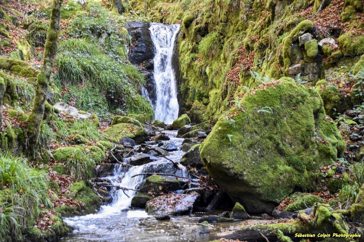 Les cascades de la Tine à Pradines en Corrèze
