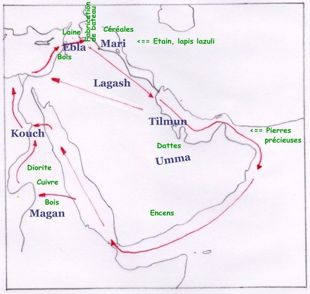 A proposal of trade routes during the 3rd millennium BC