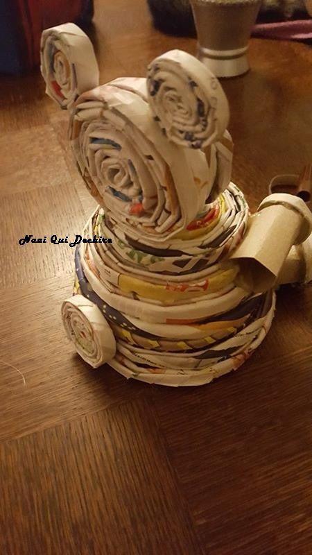 DIY récup - Ours déco en papier roulé + tuto