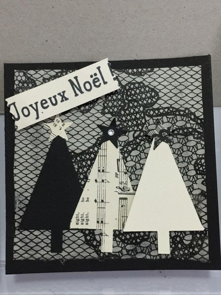 carte simple de Noël...