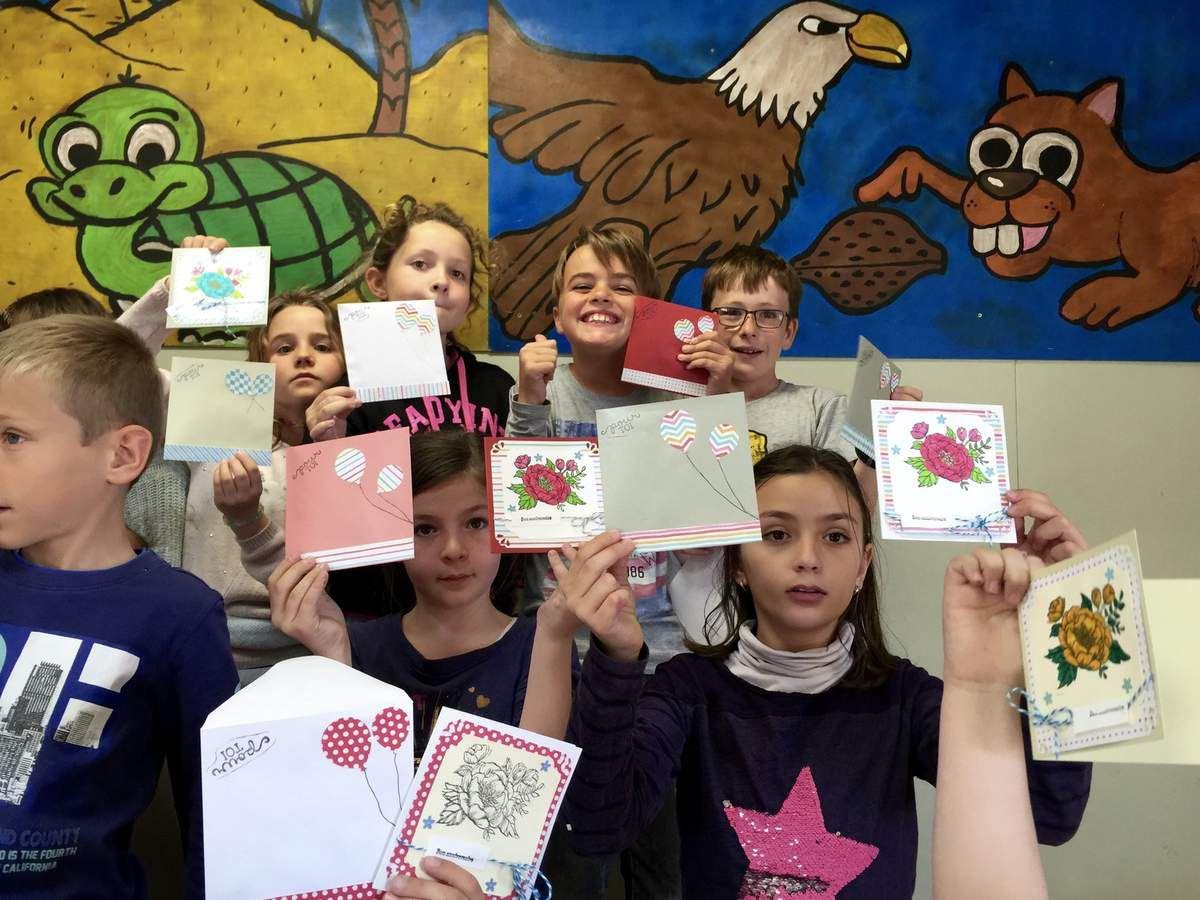 Carte anniversaire - Ecole de Saleilles
