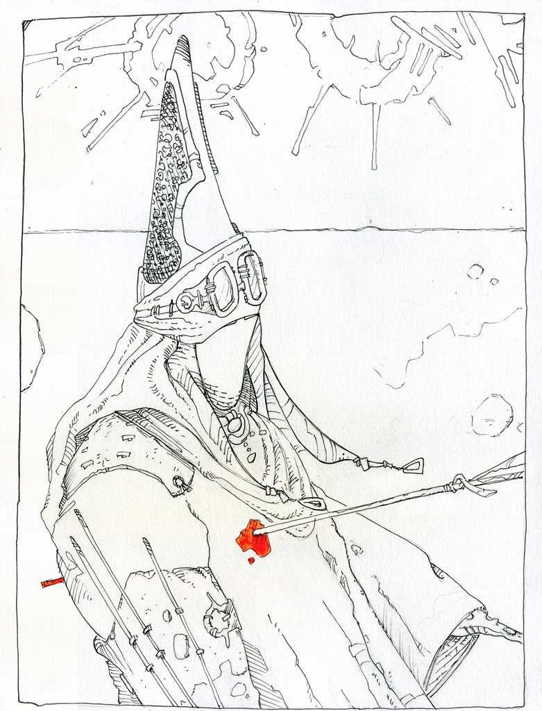 Le carnet rouge - Insurrection, encrage
