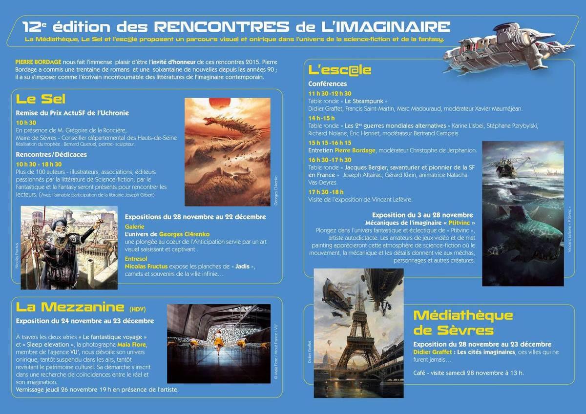 Bibliogs aux Rencontres de l'Imaginaire 2015 (Sèvres)