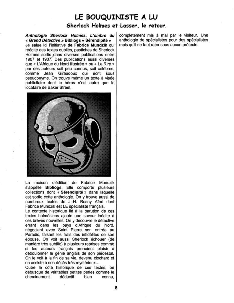 Chronique de Sherlock Holmes : L'Ombre du « Grand Détective », par Jean-Hugues Villacampa, dans La Tête en Noir