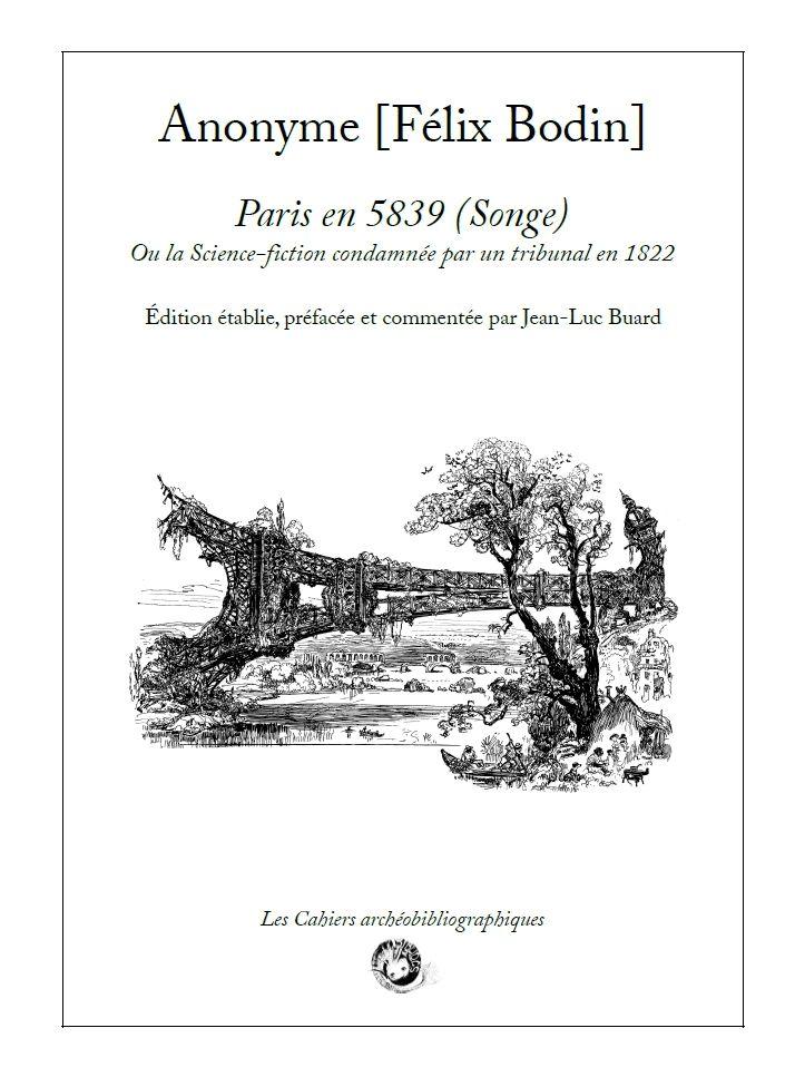 Anonyme - Paris en 5839 (Songe) ou la Science-fiction condamnée par un tribunal en 1822 [9791094282281]