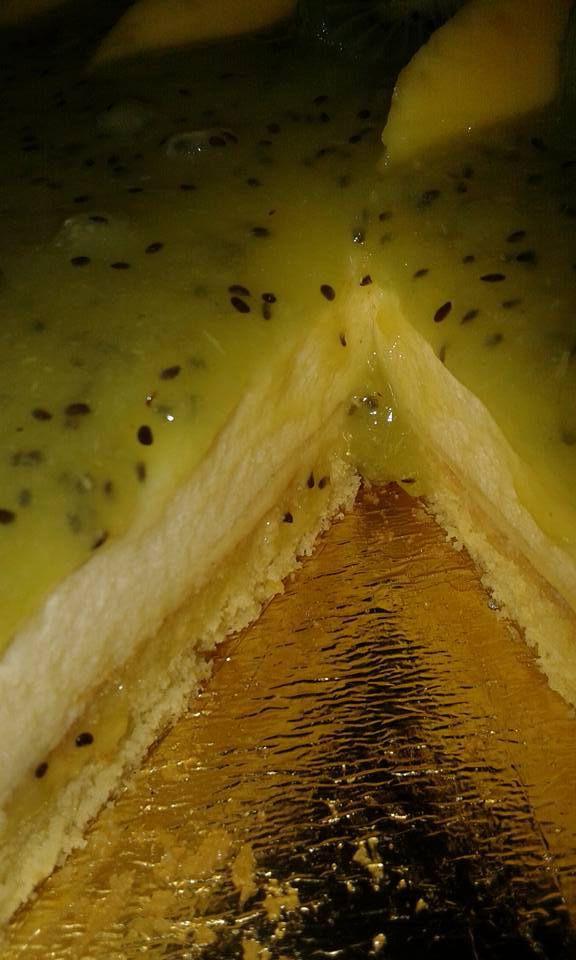 Entremet facon bavarois citron kiwi