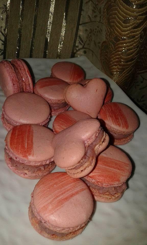 macaron curd fraise