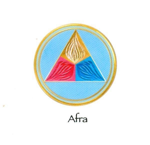 Afra, gardien et enseignant de la Triple Flamme sacrée du coeur