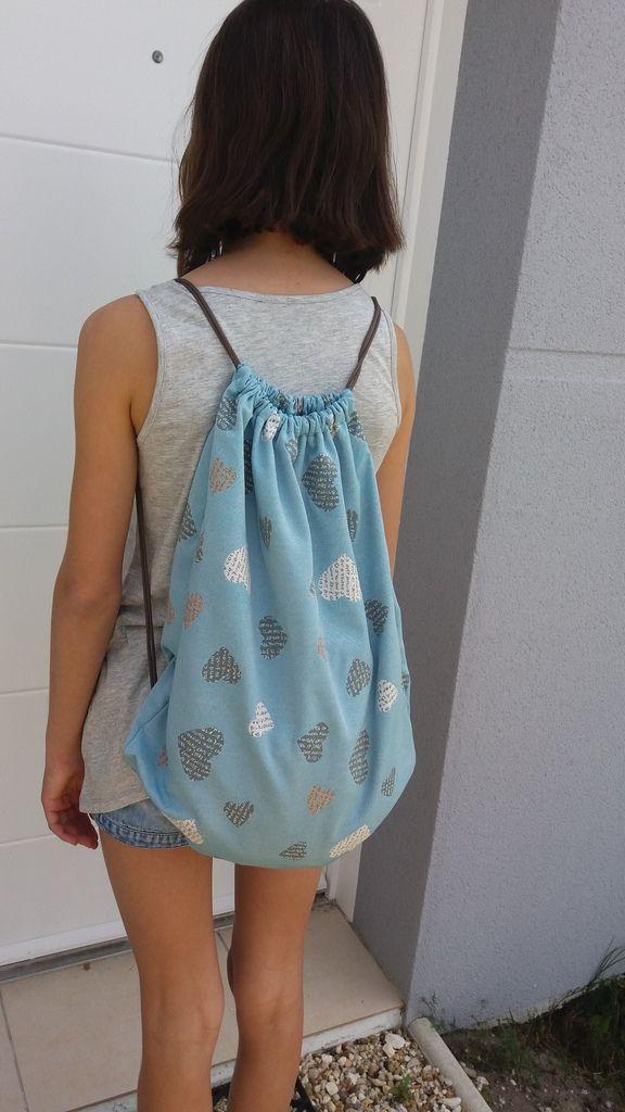 Mathilde et son sac à dos pochon