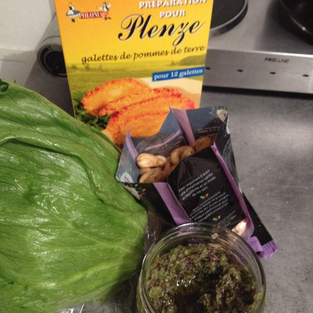 Plenze et salade au tartare d'algues