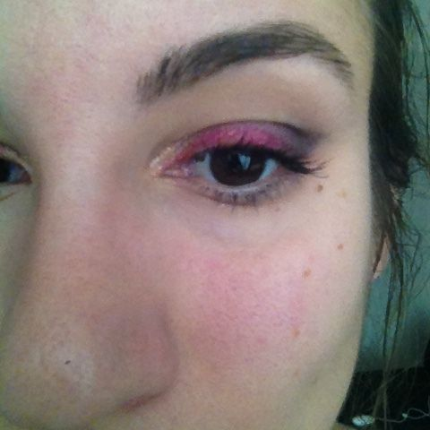Maquillage rosé toofaced + tenue du jour