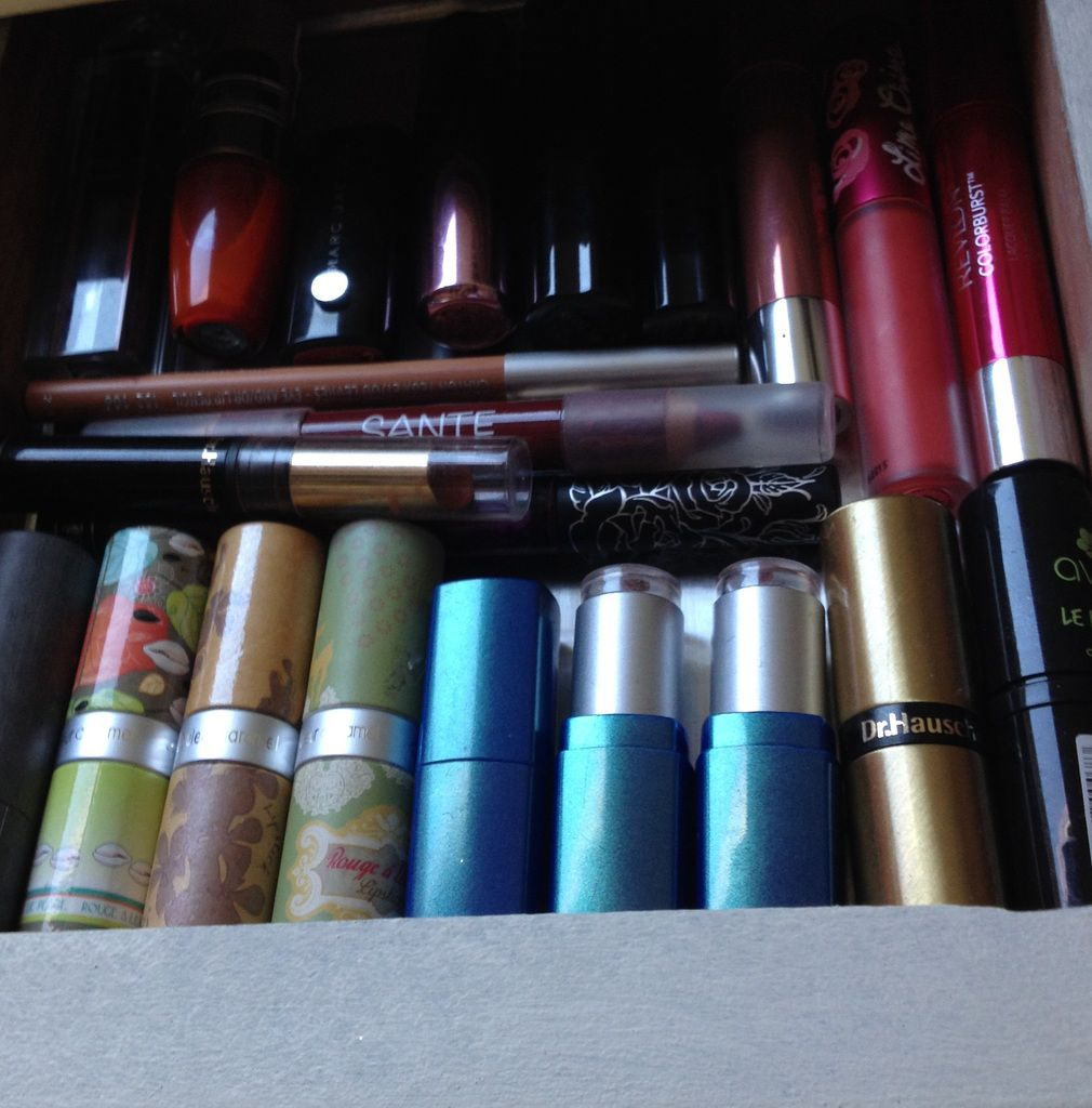 Rangement maquillage : coiffeuse homemade