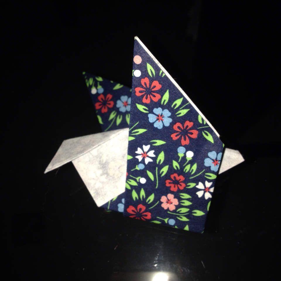 Diy origami oiseau facile
