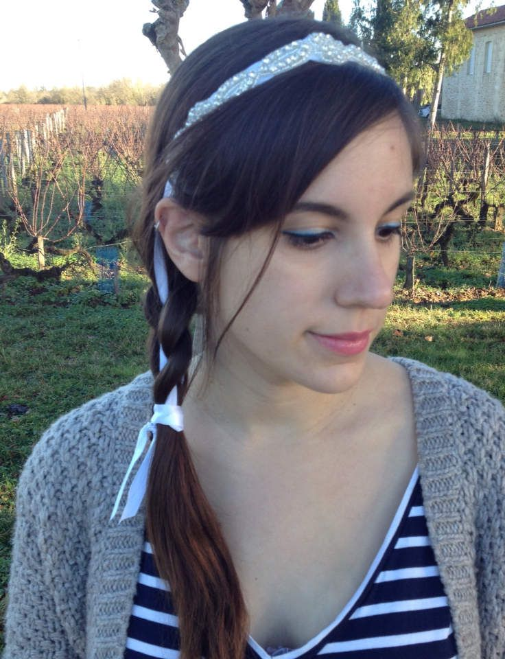 Idée de coiffure headband � (offert par le site headband.fr)