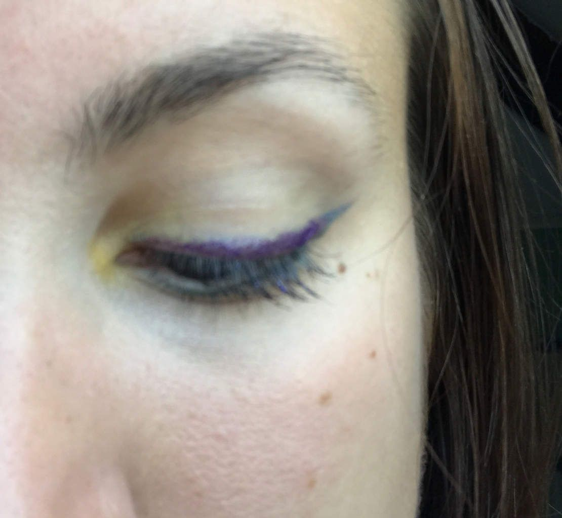 Monday shadow challenge : lime et violet