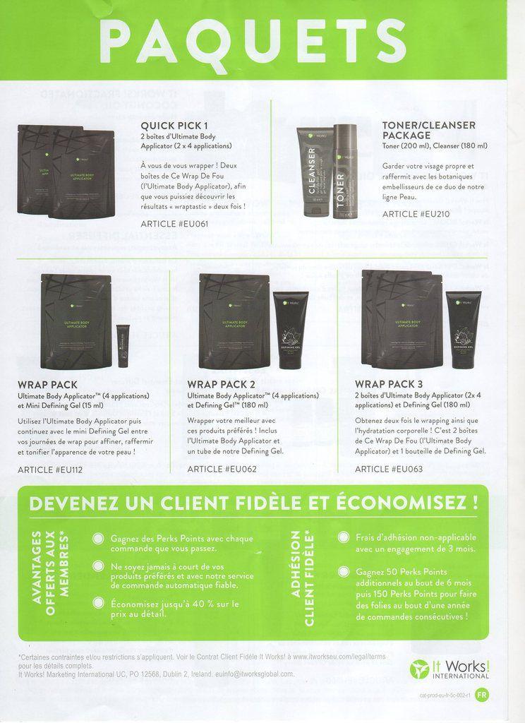 Catalogue IT WORKS de notre partenaire Carla Roux