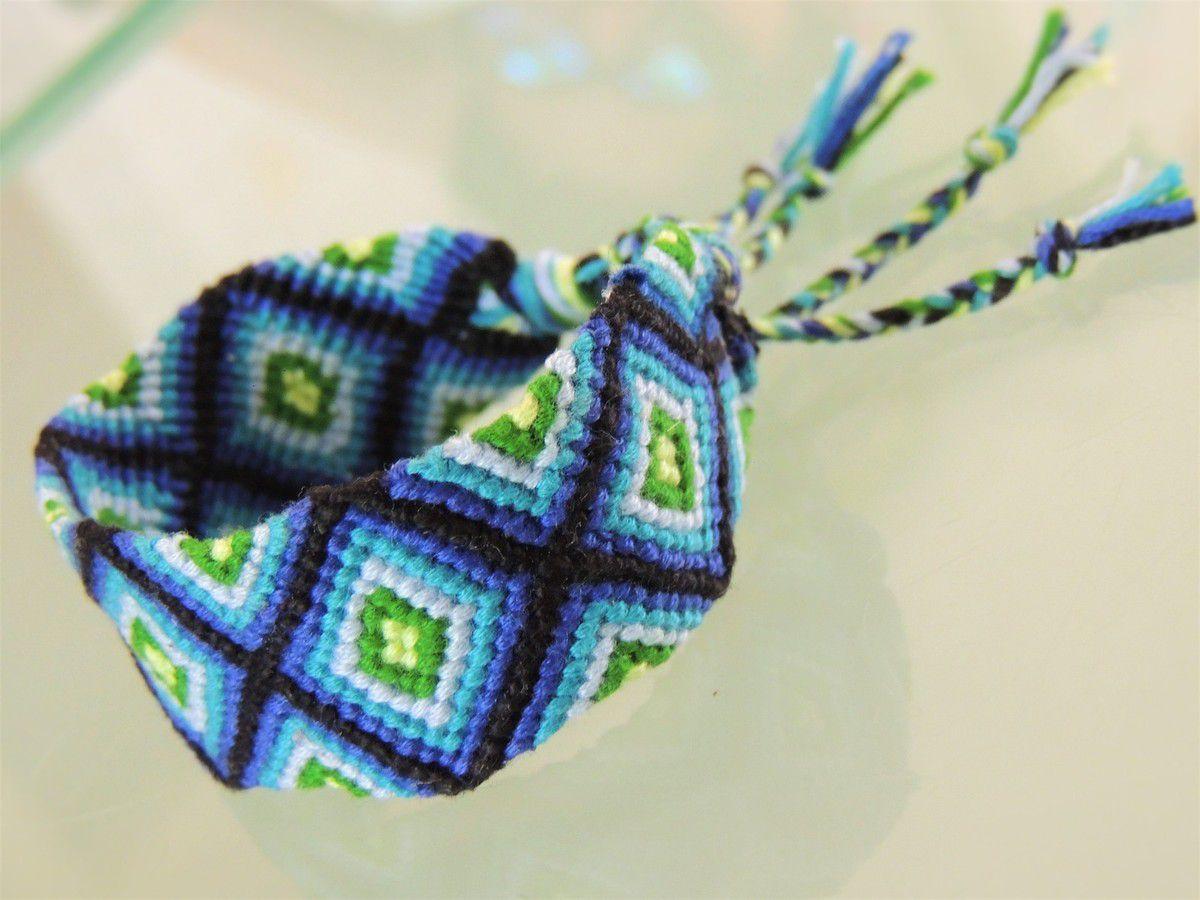 bracelet brésilien motif losange