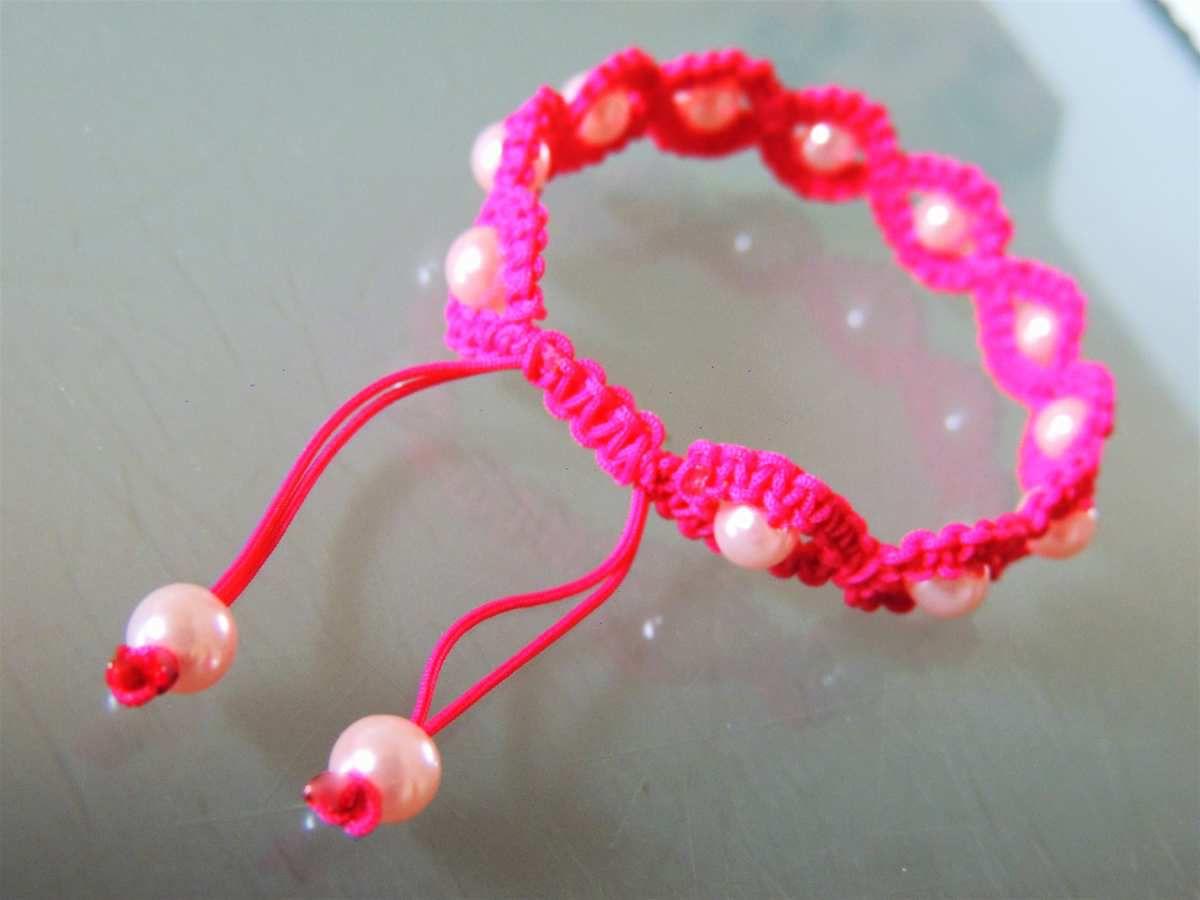 Bevorzugt bracelet macramé rond avec perles centrales - les confections de  NR94